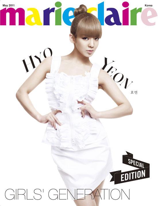 SNSD Hyoyeon Marie Claire Magazine