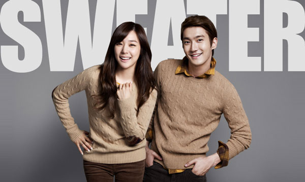 SNSD Tiffany and Super Junior Siwon SPAO clothing