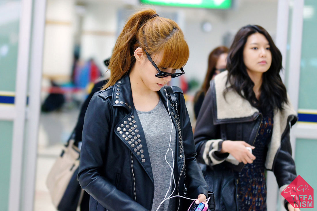 SNSD Tiffany Gimpo Airport